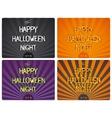 Halloween design lettering vector image