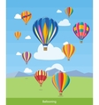 Hot Air Balloons Flying vector image