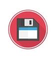icon diskette vector image