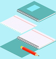 Isometric on a blue background with the image of vector image