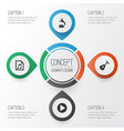 multimedia icons set collection of start vector image