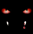 red eyes and drops vector image