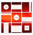 Red set of square template brochure Business vector image