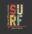 surfing design graphics for t-shirt vector image