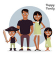 mom dad with a daughter and son vector image