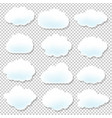 cloud icons with blue background vector image
