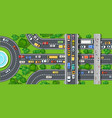 top view of city map crossroads of urban streets vector image