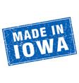 iowa blue square grunge made in stamp vector image