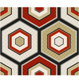 seamless japanese red and gold hexagon pattern vector image