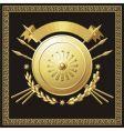 gold buckler vector image