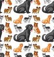 Seamless dog vector image