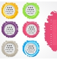 Set of color circles vector image vector image
