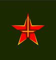 Military star symbol vector image