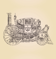 carriage steam punk vintage engraved vector image
