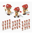Low poly firefighter vector image