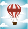 air balloon festival funfair icon vector image