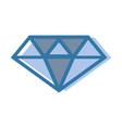 blue luxury diamond cristal gem vector image