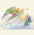 merry christmas and new year greeting card with vector image