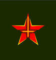 Military star symbol vector image