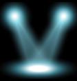 spotlight light effect aqua color vector image