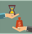 time is money business concept businessman buying vector image