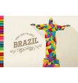 Travel Brazil landmark polygonal monument vector image