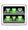 Tree green app icons vector image