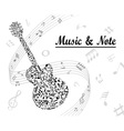 note and music vector image