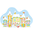 Winter toy town vector image