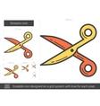 Scissors line icon vector image