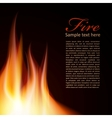 Fire background Text Design vector image