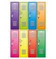 school lockers vector image vector image