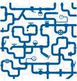 Pipeline plumbing vector image