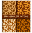 bakery seamless patterns vector image