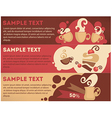 coffee and cake banners vector image
