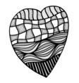 heart in zentangle style vector image