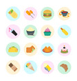 set of fast food vector image