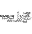 Ways to lower your car insurance quote text word vector image