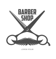 vintage barber shop logos labels badges design vector image