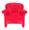 red velvet chair vector image vector image