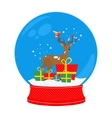 snow globe deer vector image