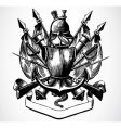 knight shield of arms vector image vector image