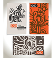 Ancient Business card design vector image