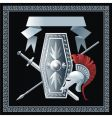 shield sword helmet and spear vector image vector image