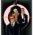 Bodyguards vector image vector image