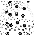 animal footprint seamless pattern vector image vector image