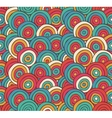 Abstract Sketched Colorful Circles Background vector image