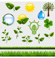 ecology symbols set isolated vector image