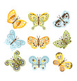 fantastic tropical butterfly with funky design vector image