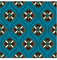 seamless floral paisley ornament pattern vector image